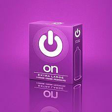 Презервативы увеличенного размера ON) XX-Large - 3 шт.  Презервативы увеличенного размера, с лубрикантом и накопителем.