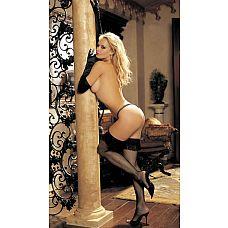 Чулки-сетка со шнурочками  Сексуальные чулочки-сетка с ажурной бахромой сверху.
