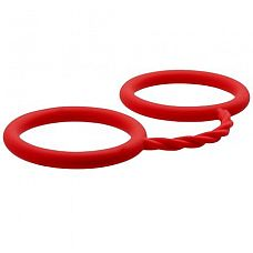 Красные силиконовые наручники BONDX SILICONE CUFFS  Красные силиконовые наручники BONDX SILICONE CUFFS.