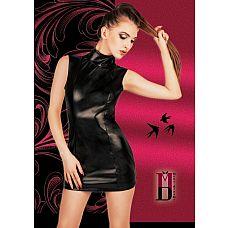 Платье в духе БДСМ с открытой попкой  Черное БДСМ платье из мягкого материала под кожу.
