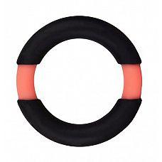 Чёрное эрекционное кольцо NEON STIMU RING 32MM BLACK/ORANGE  Чёрное эрекционное кольцо NEON STIMU RING 32MM BLACK/ORANGE. Из эластичного силикона.