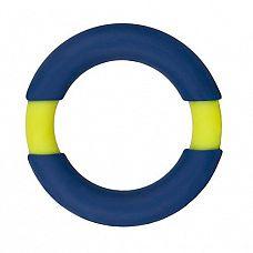 Синее эрекционное кольцо NEON STIMU RING 42MM BLUE/YELLOW  Синее эрекционное кольцо NEON STIMU RING 42MM BLUE/YELLOW. Из эластичного силикона.
