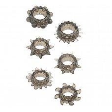 Набор из 6 дымчатых эрекционных колец MENZSTUFF 6PC STRECHEABLE RING SET  Набор из 6 дымчатых эрекционных колец MENZSTUFF 6PC STRECHEABLE RING SET.