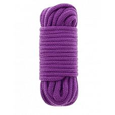 Фиолетовая хлопковая веревка BONDX LOVE ROPE 10M PURPLE - 10 м.  Фиолетовая хлопковая веревка BONDX LOVE ROPE 10M PURPLE.