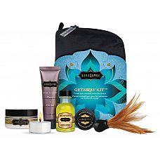 Подарочный набор для тела Getaway Kit  Набор интимной косметикиPGetaway Kit от американской компании Kama SutraP  это восхитительное наслаждение для влюбленных в изысканной коробке.