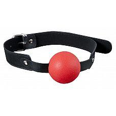 Красный силиконовый кляп-шар с ремешками из полиуретана Solid Silicone Ball Gag  Красный силиконовый кляп-шар с ремешками из полиуретана Solid Silicone Ball Gag.