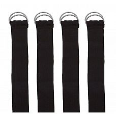Комплект из 4 ремней с петлями для связывания 4pcs Silky Wrist   Ankle Restraints  Комплект из 4 ремней с петлями для связывания 4pcs Silky Wrist & Ankle Restraints.