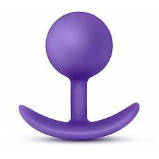 Фиолетовая пробка-шар для ношения Luxe Wearable Vibra Plug - 8,9 см.  Фиолетовая пробка-шар для ношения Luxe Wearable Vibra Plug.