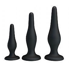 Набор из 3 силиконовых анальных пробок для начинающих Mini Anal Kit   Mini Anal Kit  - набор анальных плагов небольшого размера,созданный специально для тех, кто хочет попробовать анальный секс.