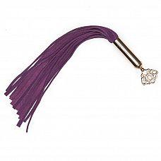 Фиолетовая мини-плеть Cherished Collection Suede Mini Flogger - 30 см.  Ты не сможешь устоять перед этой крошкой.