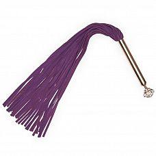 Фиолетовая плеть Cherished Collection Suede Flogger - 63,5 см.  Бархатная плеть, которая станет настоящим подарком ценителю.