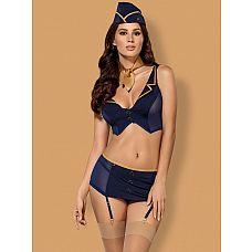 Костюм соблазнительной стюардессы из 5 предметов  Соблазнительный костюм стюардессы из пяти предметов.