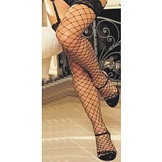 Сексуальные чулочки в крупную сетку  Чулочки в крупную сетку с широкой кружевной резинкой.
