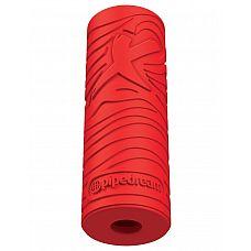 Красный мастурбатор EZ Grip Stroker  Невероятное всасывание!  Закрытая конструкция снизу создает сверхмощное всасывание, в то время как гибкий стимулятор плотно обнимает и захватывает каждый миллиметр полового члена.