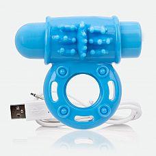 Голубое перезаряжаемое эрекционное виброкольцо CHARGED O WOW RING  Голубое перезаряжаемое эрекционное виброкольцо CHARGED O WOW RING.