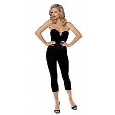 Обворожительный корсет-бюстье  Корсет без бретелек на гибких косточках, с задней шнуровкой и украшением на груди.