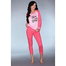 Мягкая пижамка Malblea с длинным рукавом  Мягкая пижамка Malblea с длинным рукавом.
