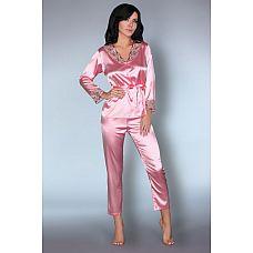 Роскошная пижама Tomana  Элегантный комплект: рубашка и брюки из искусственного шелка.
