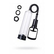 Вакуумная помпа A-toys с уплотнителем и эрекционными кольцами  A-Toys Vacuum pump   серия помп, созданная для мужчин, которые стремятся к новым победам и точно знают чего хотя.