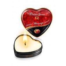 Массажная свеча с ароматом персика Bougie Massage Candle - 35 мл.  Массажная свеча с ароматом персика Bougie Massage Candle.
