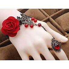 Браслет Ceri с цветами, бусинами и кольцом  Браслет Ceri с цветами, бусинами и кольцом.