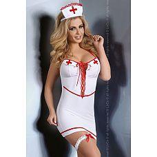 Игровой комплект медсестры Aspen  Комплект медсестры, в него входит платье, трусики, подвязка на ногу и головной убор.