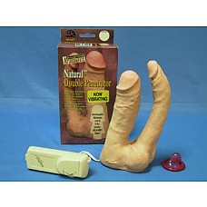 Насадка-двойной фаллопротез с вибратором  Насадка-двойной фаллопротез с вибратором. Анально-вагинальный. Длина вагинального фаллоса 14 см, диаметр 3,5 cм, длина анального фаллоса 14 см, диаметр 2 см.