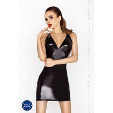 Строгое платье Hellen с открытой спиной и wet-блеском  Строгое платье Hellen с открытой спиной и wet-блеском.