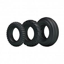 Набор из 3 эрекционных колец различного размера  Набор эрекционных колец черного цвета для дополнительной стимуляции.