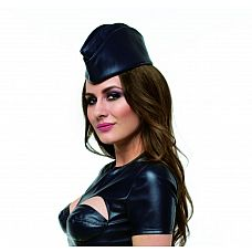 Пилотка стюардессы из искусственной кожи  Пилотка стюардессы может быть использована как часть игрового костюма или как для самостоятельного ношения.
