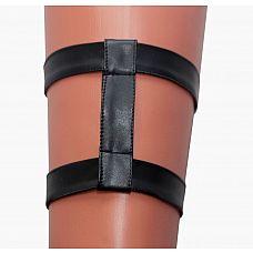 Двойная кожаная подвязка на ногу  Соблазнительная подвязка на ногу из невероятно мягкой эко-кожи.