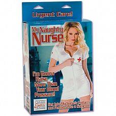 Эротическая кукла My Naughty Nurse   Любовная кукла из ПВХ с белым халатиком и шапочкой медсестры.
