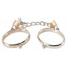 Металлические наручники Metal Handcuffs с замочками  Металлические наручники Metal Handcuffs с замочками. В комплекте 2 замка и 2 ключика.