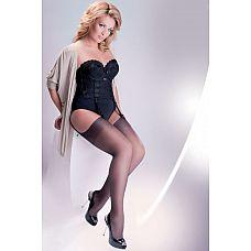 Чулки под пояс Cher Plus Size 15 den  Классические тонкие чулки с добавлением волокна LYCRA предназначены для ношения с поясом.
