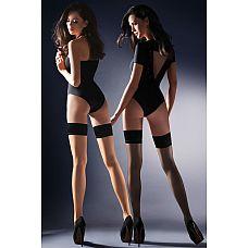 Чулки с резинкой на силиконе Lovia  Тонкие эксклюзивные чулки с прозрачным носком, с тесьмои¶ на силиконовои¶ основе.