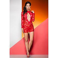 Кружевное платье с длинными рукавами Rayen  Кружевное платье Rayen с длинными рукавами - дерзкое, смелое и невероятно сексуальное одеяние для женщины, которая хочет почувствовать себя бесконечно желанной.