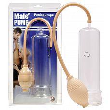 Прозрачная вакуумная помпа Male Pump с уплотнительным кольцом  Прозрачная вакуумная помпа Male Pump с уплотнительным кольцом.