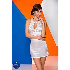 Белая сорочка с полуоткрытой спинкой Catalina  Белая сорочка Catalina, соблазнительно облегающая фигуру.
