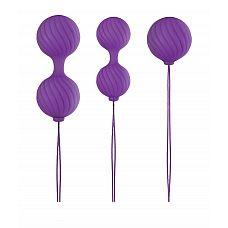Набор фиолетовых вагинальных шариков Luxe O  Weighted Kegel Balls  Набор фиолетовых вагинальных шариков Luxe O  Weighted Kegel Balls.