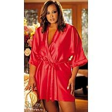 Атласный халат-кимоно  Роскошный халат-кимоно выполнен из тонкого атласа.