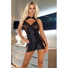 Изысканная сорочка Andrea с разрезами  Атласная сорочка Andrea с кружевными вставками, в комплекте идут стринги.