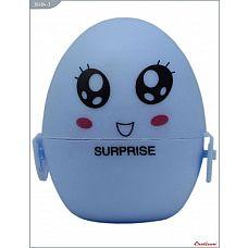Голубой мастурбатор-яйцо SURPRISE PokeMon  Карманный мастурбатор многоразового использования  Eroticon PokeMon (PocketMonster) выполнен в виде маленького  стильного яйца из нежного медицинского  силикона.