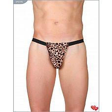 Леопардовые трусы-стринги  Леопардовые мужские мини-стринги выполнены из мягкого и эластичного материала.