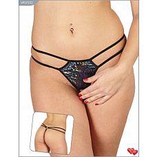 Блестящие открытые трусики-стринги с двойной резинкой  Женские стринги с доступом. Обязательно должны быть в вашем гардеробе.