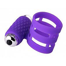 Фиолетовое эрекционное виброкольцо ADMA  Эластичное виброкольцо из мягкого силикона плотно облегает половой член и помогает усилить эрекцию и продлить половой акт, чтобы вы оба смогли сполна насладиться друг другом.