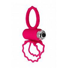 Розовое эрекционное виброкольцо BOB  Изысканный дизайн этого виброкольца поражает воображение! Силиконовые крылья, напоминающие бабочку, придают кольцу нежность и легкость.