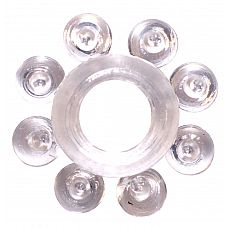 Прозрачное эрекционное кольцо Rings Bubbles  Эрекционное кольцо из серии Rings- игрушка, предназначенная исключительно для мужчин.