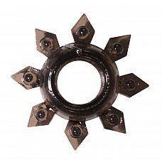 Чёрное эрекционное кольцо Rings Gear  Эрекционное кольцо из серии Rings- игрушка, предназначенная исключительно для мужчин.