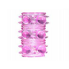 Розовая насадка на пенис Rings Armour  Насадка на член из серии Rings призвана не только продлить эрекцию, но также стимулировать партнера за счет рельефной структуры.