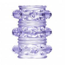 Фиолетовая насадка на пенис Rings Armour  Насадка на член из серии Rings призвана не только продлить эрекцию, но также стимулировать партнера за счет рельефной структуры.